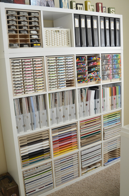 Paper Craft Storage in IKEA Shelving & Paper Craft Storage in IKEA Shelving - Stamp-n-Storage